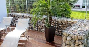 Декоративный забор габион