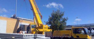 Автокраны незаменимы при строительных работах